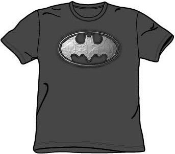 A&E Designs Batman DUCT TAPE LOGO Charcoal Gray Adult T-shir