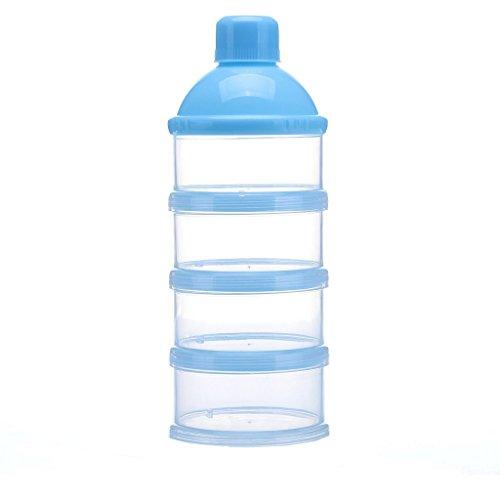 KAMIERFA Baby Milchpulver Portionierer Aufbewahrungsdosen Blau