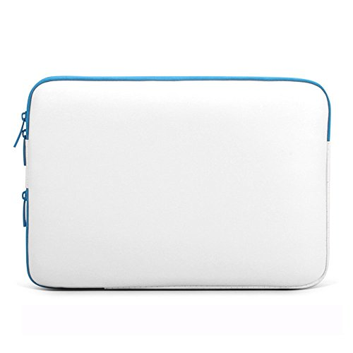 CASEKING 13-13.3 Inch Premium Water-resistant Soft PU Leather Sleeve Bag Cover / Briefcase / Skin Cover with Furry Lining for Laptop / MacBook / Macbook Air / MacBook Pro / Notebook / Ultrabook, White