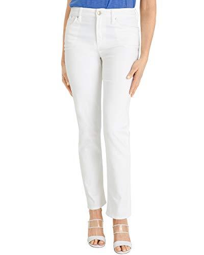 Chico's Women's No-Stain White Boyfriend Ankle Jeans Size 12 L (2 REG) White