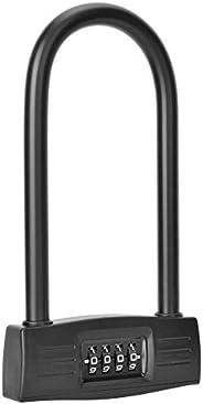 Smart Bicycle U-Lock, Anti-Theft Lock Intelligent Password U-Lock, U-Type 4 Digit Combination Password Coded L