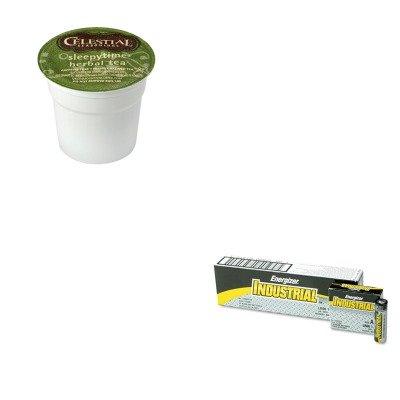 Energizer Drink - KITEVEEN91GMT6505CT - Value Kit - Celestial Seasonings Tea K-Cups Sampler (GMT6505CT) and Energizer Industrial Alkaline Batteries (EVEEN91)
