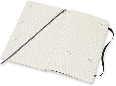 Moleskine Wochenkalender, Taschenkalender, 12 Monate, 2020, Large, A5, Horizontal, Hard Cover, Schwarz