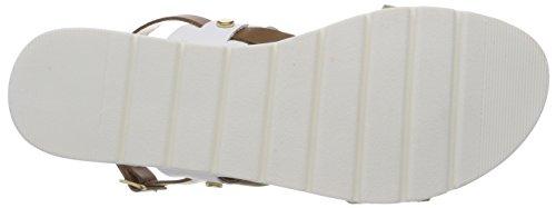 Sandalen Premio White Slingback Damen Weiß Marco 28631 Comb Tozzi XfqB51