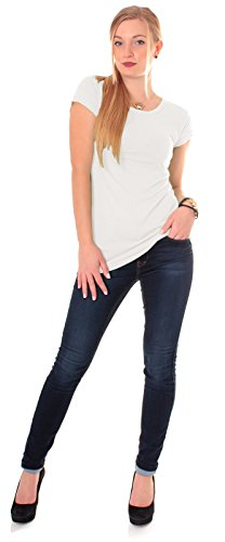 Easy Young Fashion–Camiseta–para mujer crema