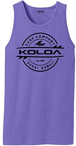 (Koloa Thruster Logo Pigment-Dyed Tank Tops-Amethyst/b-S )