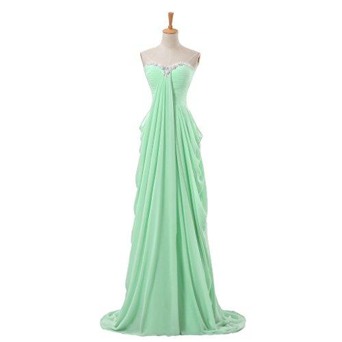 Vimans Damen A-Linie Kleid Minzgrün HOItJq0pCv