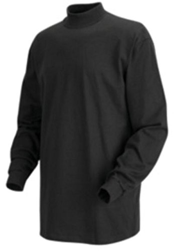 Red Kap Long Sleeve Mock Turtleneck, Men, 8301BK, RGM
