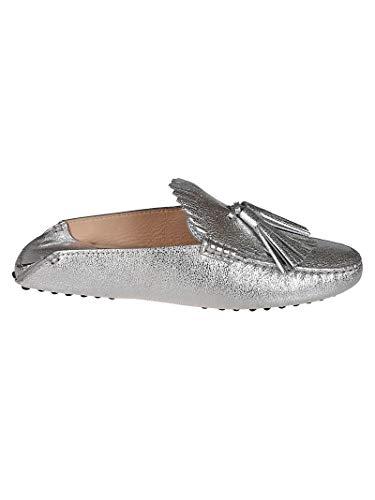 Plata Xxw00g0x070mecb200 Mujer Cuero Zapatos Tod's vEzw5qw