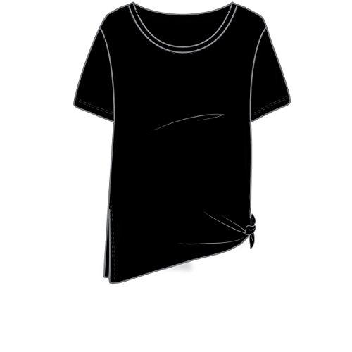 Under Armour Women's Studio Oversized T, Black (001)/White, Small