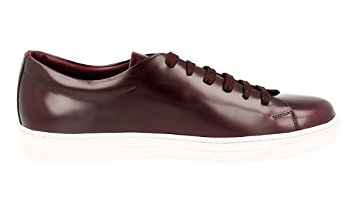 Prada Mens 4e2996 B4l F0003 Sneaker In Pelle Spazzolata Spazzolata