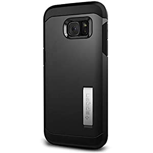 Spigen Tough Armor Galaxy S7 Edge Case with Kickstand and Extreme Heavy Duty Protection and Air Cushion Technology for Samsung Galaxy S7 Edge 2016 - Black