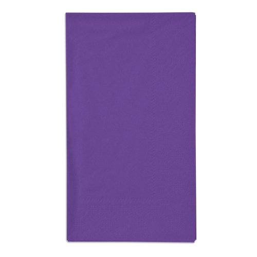Hoffmaster 180539 Purple 15'' x 17'' Paper Dinner Napkins 2-Ply - 125/Pack by Hoffmaster