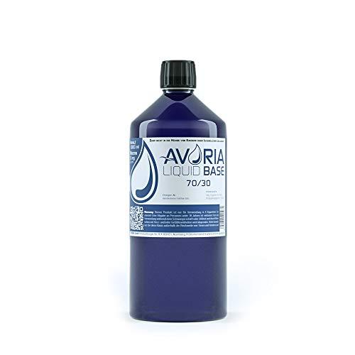 AVORIA – Liquid Base 70/30 zur Herstellung von eigenen Liquids für E-Zigaretten, Vaper und Dampfer | Basis – Made in…