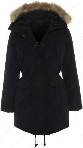 Womens Black Parka Jacket | Jackets Review