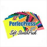 Heat Transfer Vinyl 23 Piece Bonus Bundle Includes 21 - 12 x 10 Inch Assorted Color Premium PerfecPress HTV Sheets for Silhouette Cameo, Cricut and Other Cutters