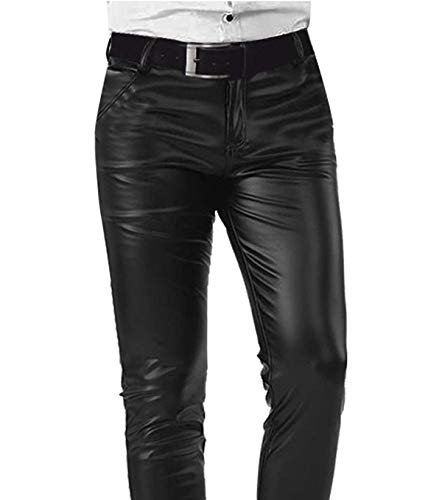 Pants Faux Genius Leather Donna Giacca Biker Black E Vintage B78PHxqqn