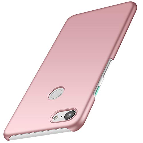 Anccer Compatible for Google Pixel 3 Case [Colorful Series] [Ultra Thin Fit] PC Material Slim Cover for Google Pixel 3 (Not for Google Pixel 3 XL) (Rose Gold)