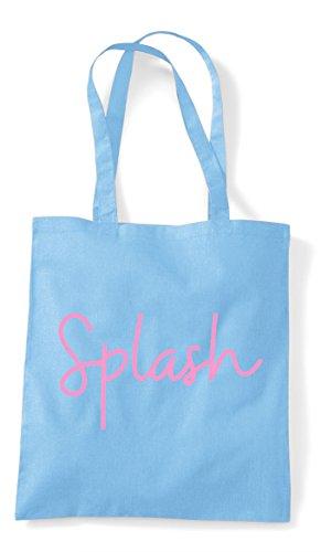 Splash Sky Shopper Statement Hashtag Bag Blue Tote Quote USUar