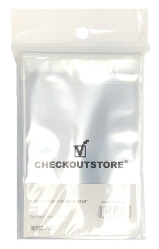 CheckOutStore 1,000 Crystal Clear Team Card Sets Protective Sleeves with Sealable Flap
