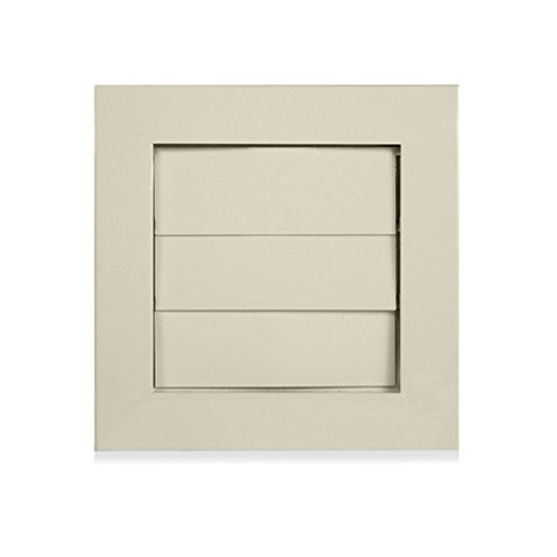 Architectural Grille DV - Oyster White AG Dryer Vent Cover 6.25 Inches x 6.25 Inches Aluminum - oyster White