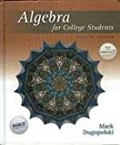 Algebra for College Students, Dugopolski, Mark, 0072934824