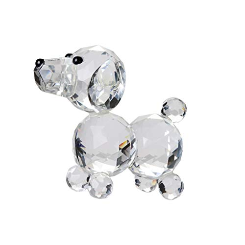 - Iusun Crystal Gold Dog Figure Paperweight Decorations Home Table Top Sunlight Shining Party Valentine's Day New Year Ornaments Craft Gifts (B)
