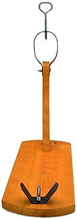 FERRETERIA LEPANTO Soporte Jamonero Tipo Gondola economico Color Nogal + Cuchillo jamonero + chaira de Regalo para Cortar Jamon Paleta o paletilla de Jamon Serrano o Iberico LepantoHouse