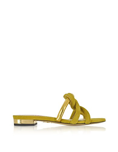 charlotte olympia Women's Ols1857292310 Green Suede Sandals