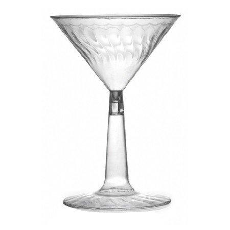 6 oz. Clear Plastic Flairware 2 Piece Martini Glass - 144 per case by Fineline settings