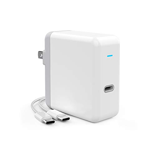 Onforu 61W USB C Power Adapter, Power Delivery Fast Wall Charger, Compatible with MacBook Pro 13-in 2016, 2017, 2018, iPad Pro, Type C Charging, UL Listed