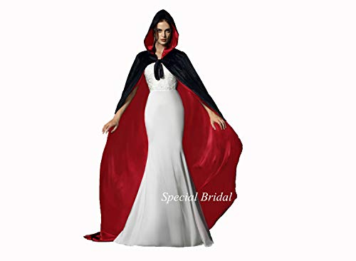 Red Cloak Adult Vampire Costumes Velvet Witch Cloak Black Velvet Cape Adult]()
