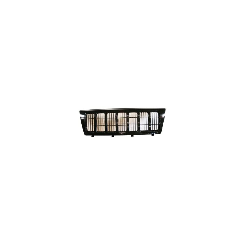 TKY AM07023GB TY5 Jeep Grand Cherokee Black Replacement Grille W/ Black Frame