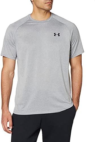 Under Armour Men's Tech 2.0 Short-Sleeve T-Shirt , Steel Light Heather (036)/Black, Medium