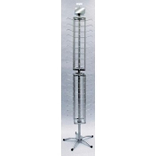 New Retail Eyeware Display Sunglasses Silver Floor Spinner 72 Pair Rack by Counter Display
