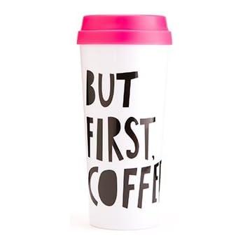 Ban.do 40735 Hot Stuff Thermal Mug, But First Coffee