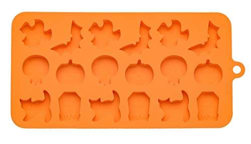 Handstand Kitchen Silicone Halloween Trick or Treat Shaped Chocolate Mold with Recipe Cards