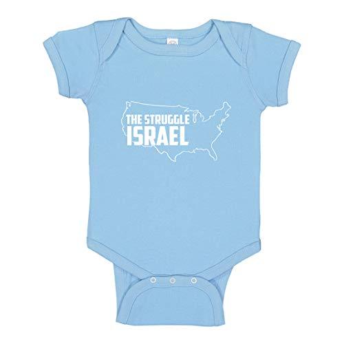 Indica Plateau Baby Onesie The Struggle Israel Light Blue for 18 Months Infant Bodysuit
