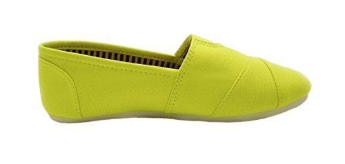Sandalo Pasquale Vendita Sarah Casual Slip On Appartamenti In Tessuto Per Bambina Da (colori Assortiti) Neon Lime