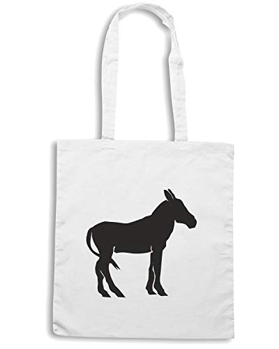 Borsa Shopper Bianca SILHOUETTE OR ASS WES0592 DONKEY MULE 7ACx7rT