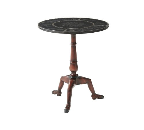 THEODORE ALEXANDER 5021-013 Shoe Foot Round Lamp Table ~ NEW (Theodore Alexander Lamps)
