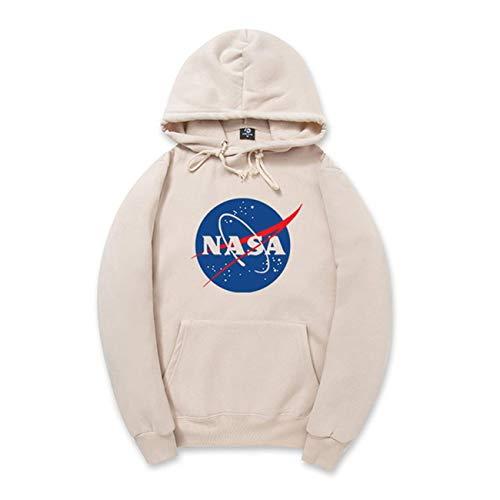 CORIRESHA Fashion NASA Logo Print Hoodie Sweatshirt with Kangaroo Pocket(smaller than standard size)