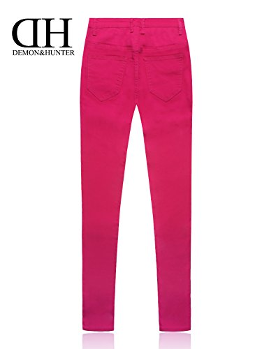 Pitillos Dh8022r Rosa Jeans Elevar X amp;hunter Series Vaqueros Skinny Pantalones 822 Mujer Demon Curva qnf0wRUPwx