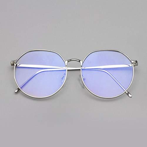 Anti Transparentes 18082005 Argent Cadre Lunettes Hibote Bleue Rondes Hommes Femmes lumière qtx0F4Ow