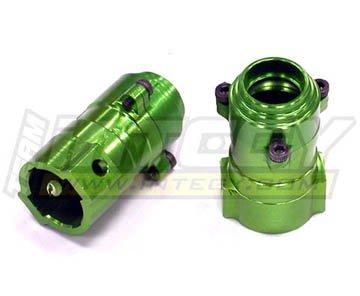 - Integy RC Model Hop-ups C22527GREEN Alloy One Piece Rear Hub for Axial AX10 Scorpion