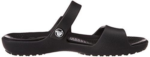 Punta Cleo Crocs Sandal black Aperta Donna Sandali A black Nero W New EOOwx5qrY