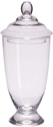 Home Essentials Elegant Large Clear Glass Apothecary Jar ...