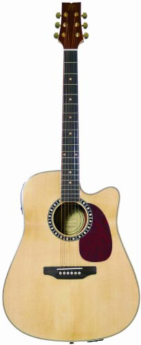 JB Player JBEA85 Acoustic Electric Guitar, Natural by JBP