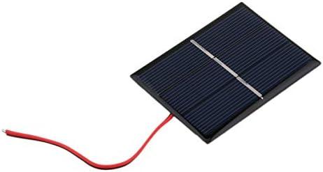 Sylvialuca 0,65 W 1,5 V 300 mA polykristallines Silizium-Solarpanel Mini-Solarzellen-Ladegerät für Heimwerker DIY-Solarzellen mit Kabel