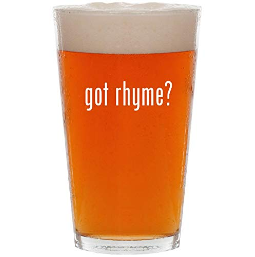 got rhyme? - 16oz Pint Beer Glass